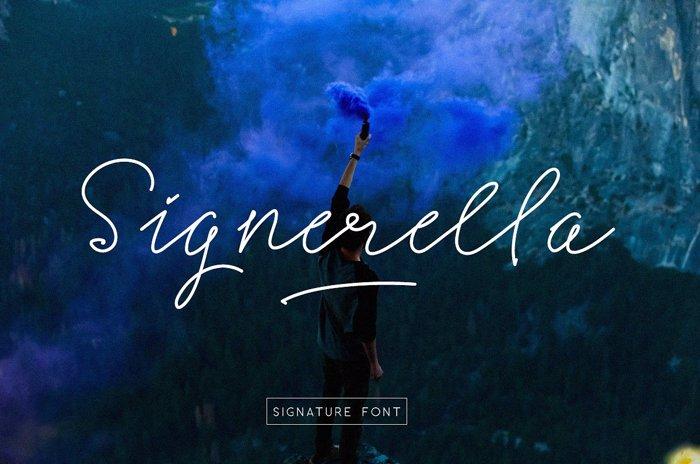 Signerella Script Font poster