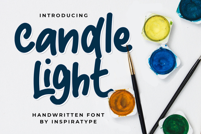Candle Light Font poster