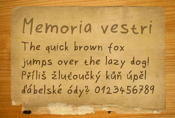 Memoria vestri Font poster