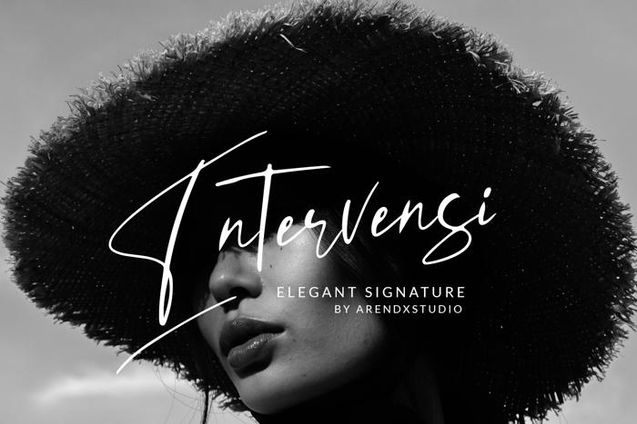 Intervensi Font poster