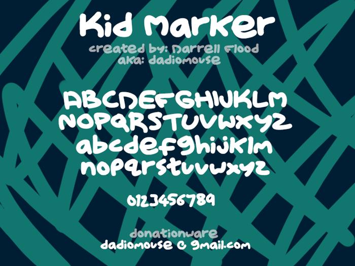 Kid Marker Font poster