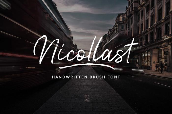 Nicollast Font poster