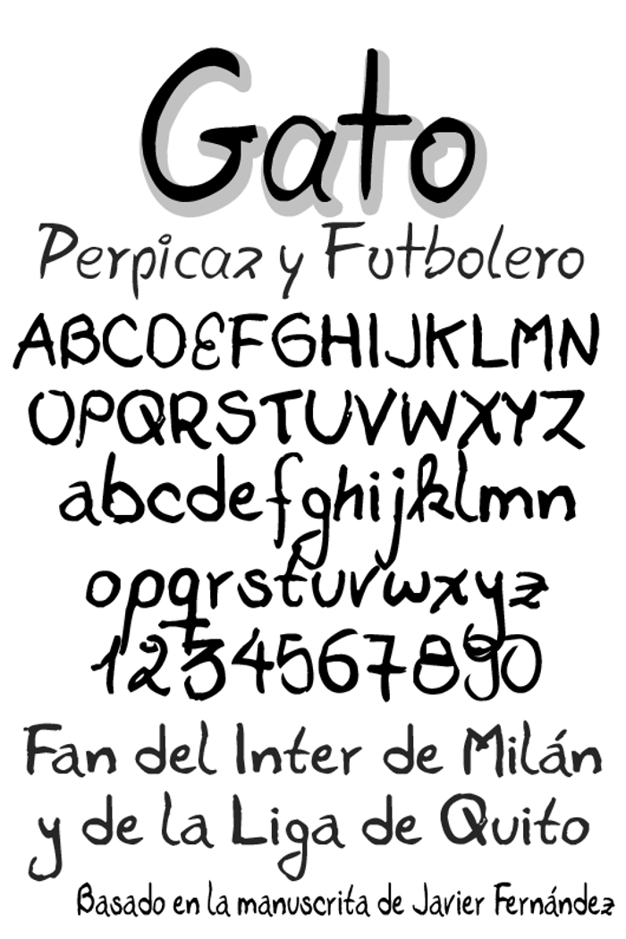 Gato Font poster