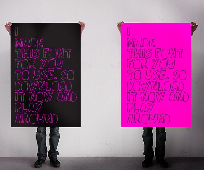 REV_v2 Font poster