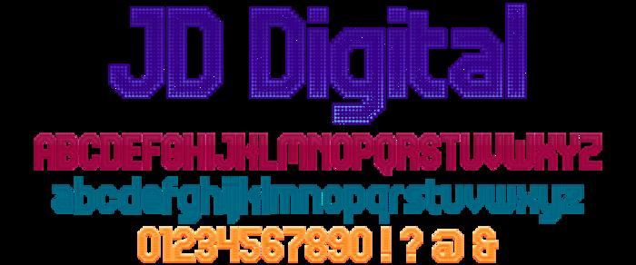 JD Digital Font poster