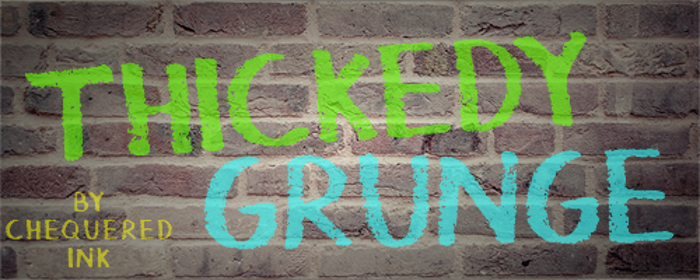 Thickedy Grunge Font poster