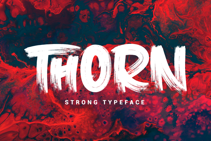 THORN Font poster