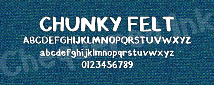 Chunky Felt Font poster