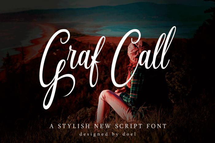 Graf Call free Font poster