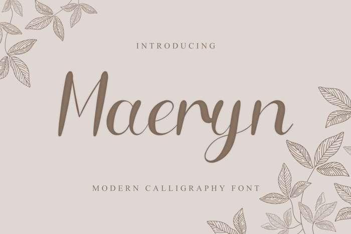 Maeryn Font poster
