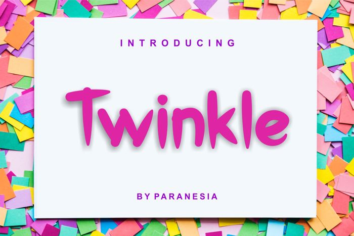 Twinkle Font poster