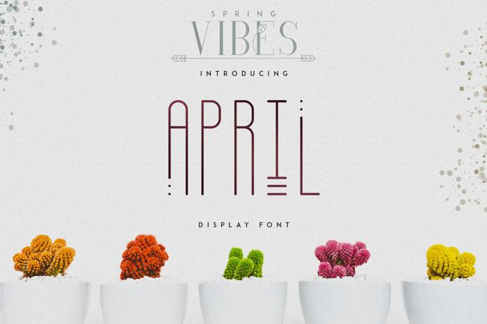 April Font poster
