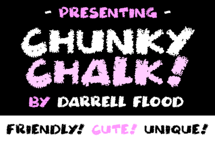 Chunky Chalk Font poster