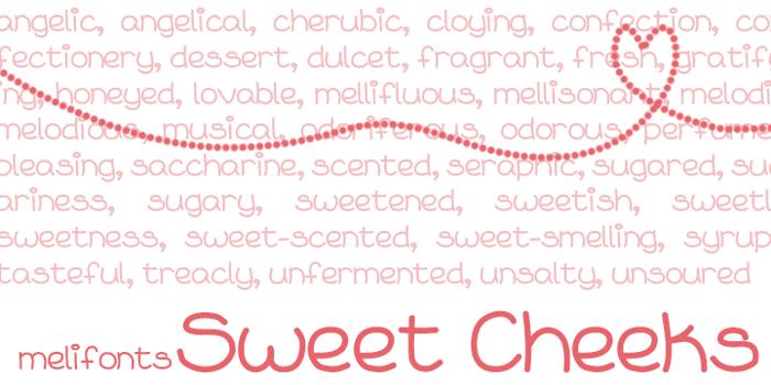 Sweet Cheeks Font poster