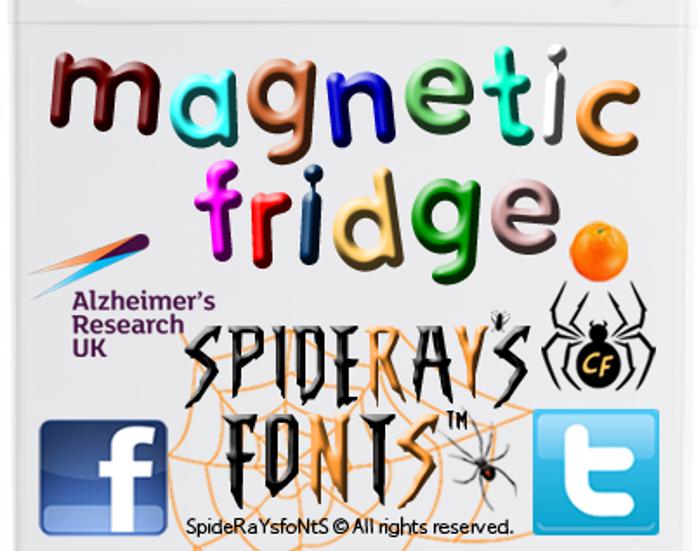 MAGNETIC FRIDGE Font poster