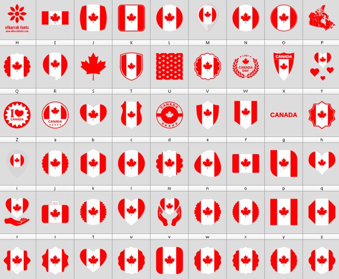 Font Canada Color poster