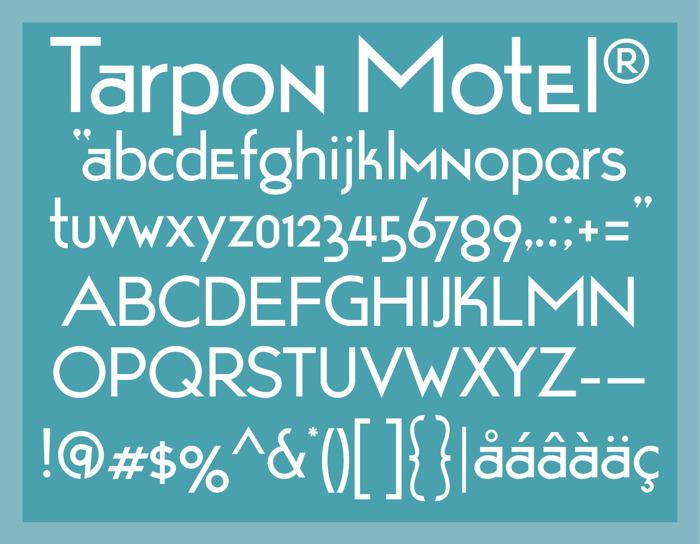 Tarpon Motel Font poster