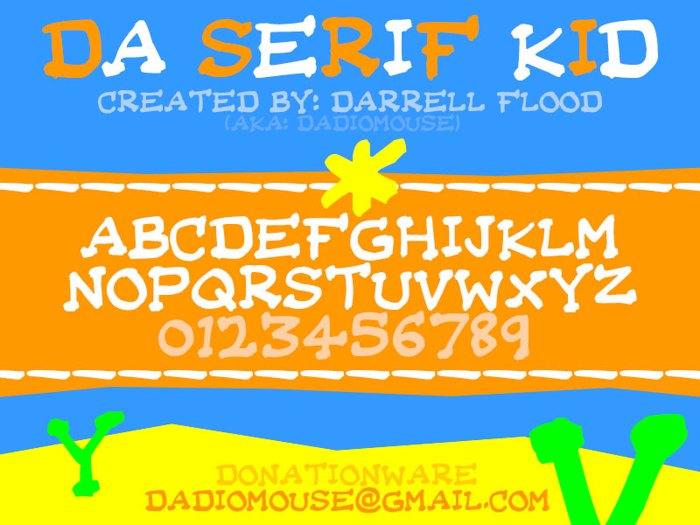 Da Serif Kid Font poster