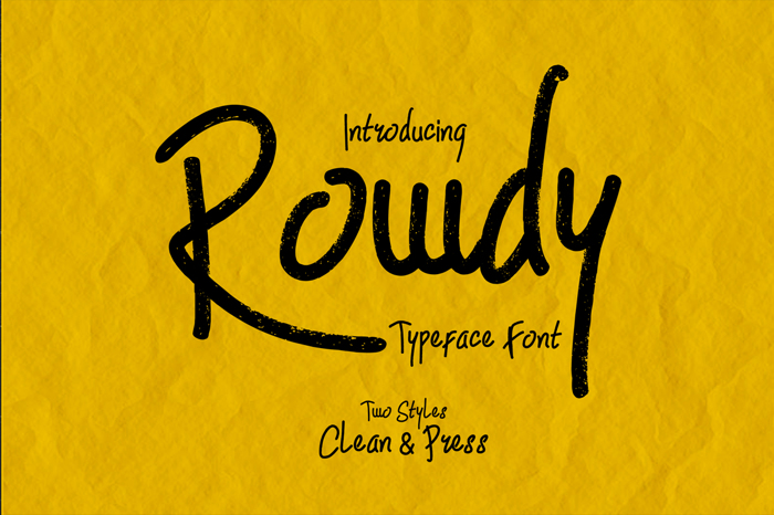 Rowdy Font poster