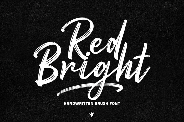 Red Bright Font poster