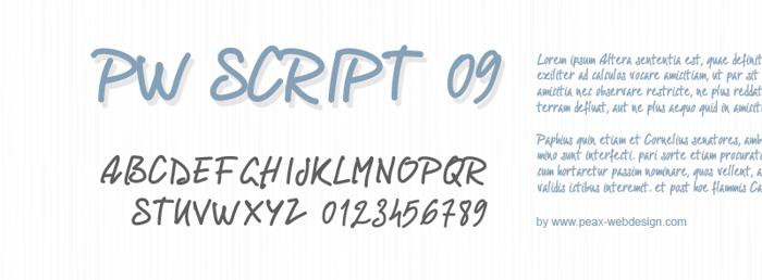 PWScript09 Font poster