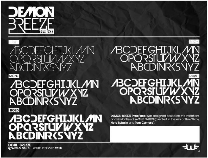 Devil Breeze Font poster