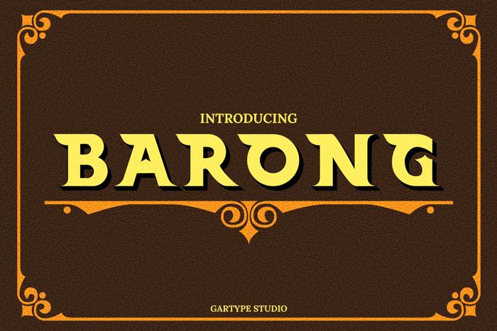 Barong Font poster