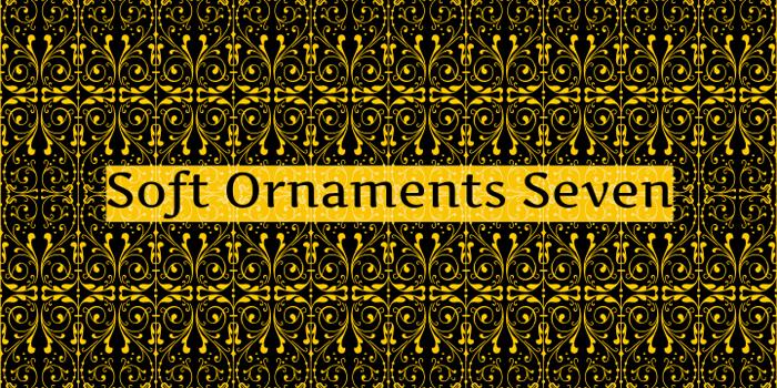 Soft Ornaments Seven Font poster