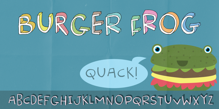 Burger Frog DEMO Font poster
