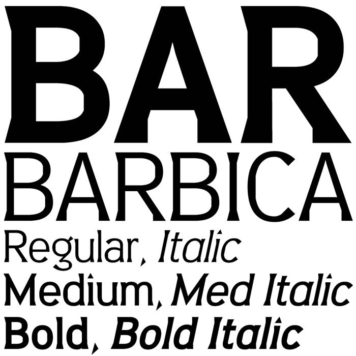 Barbica Font poster