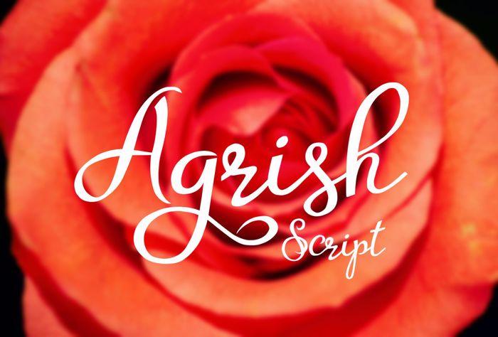 Agrish Font poster