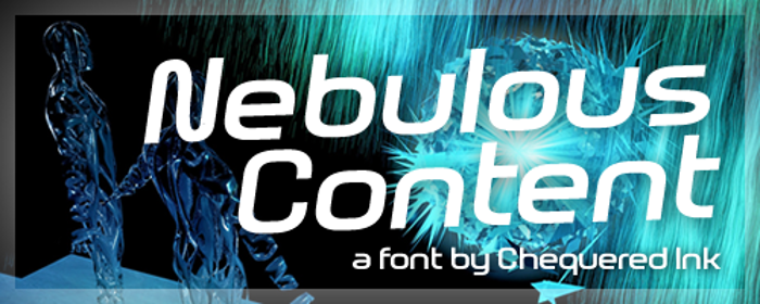 Nebulous Content Font poster