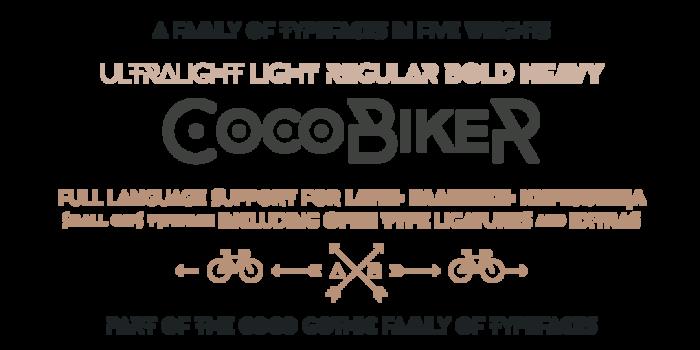 CocoBikeR Font poster