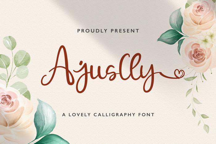 Ajuslly Font poster