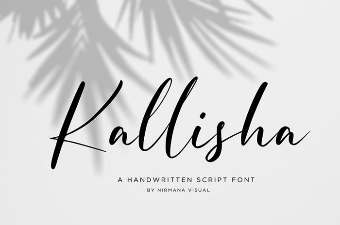 Kallisha Font poster