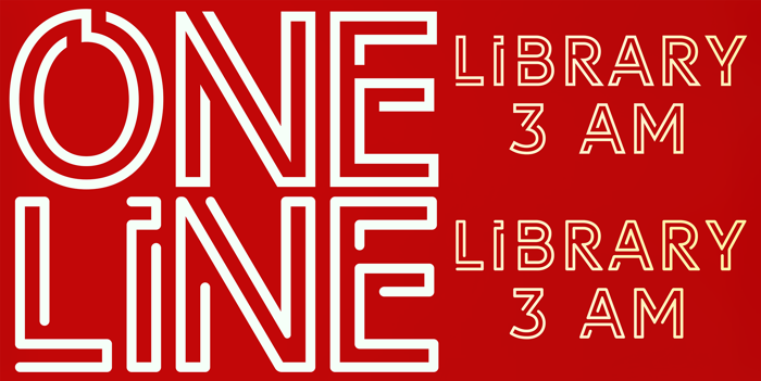 LIBRARY 3 AM Font poster
