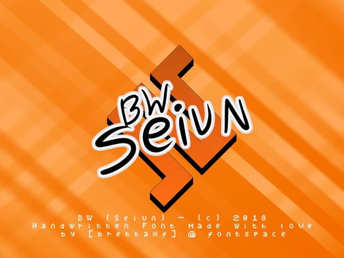 BW Seiun Font poster