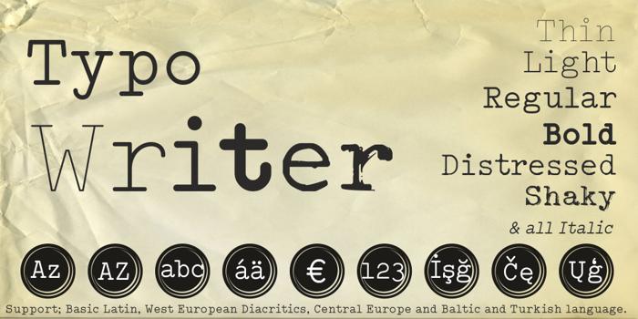 Typo Writer Demo Font poster