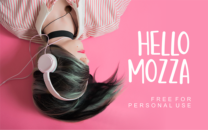 Hello Mozza Font poster