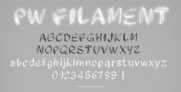 PWFilament Font poster