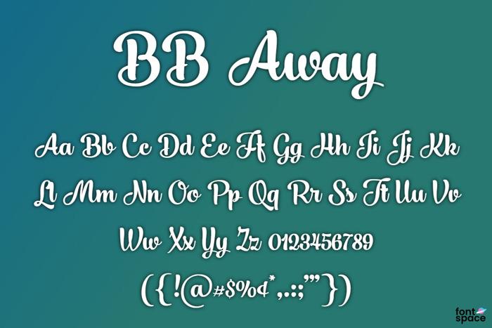 BB Away Font poster