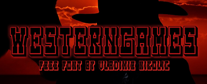 Westerngames Font poster