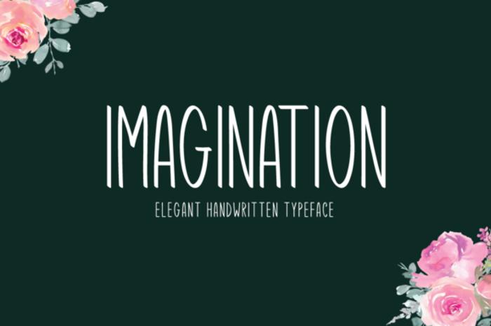 Imagination Font poster