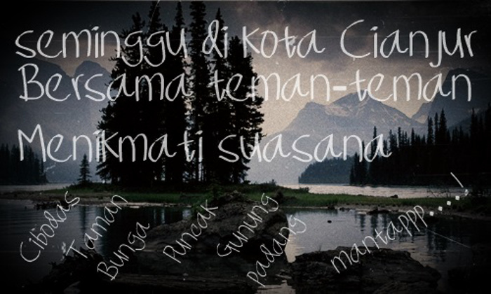 Seminggu di kota Cianjur Font