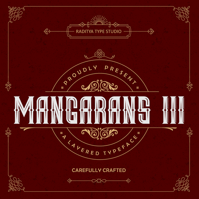 Mangarans III Font poster