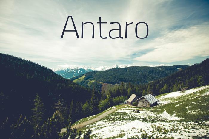 Antaro Font poster