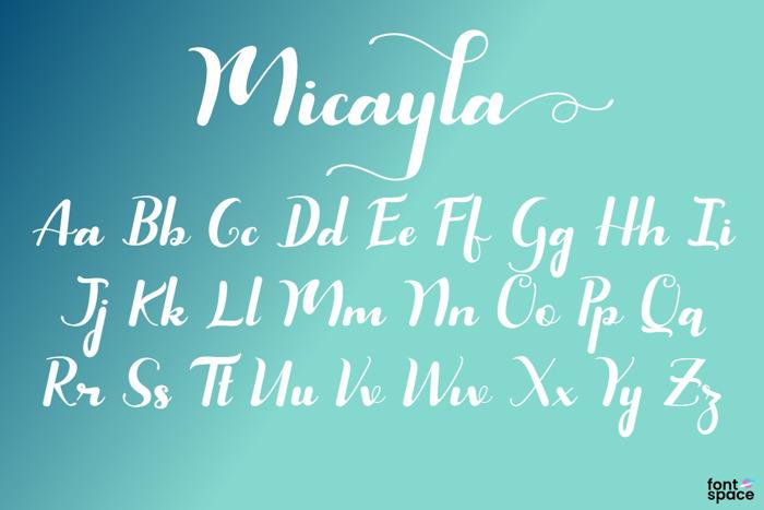 Micayla Font poster