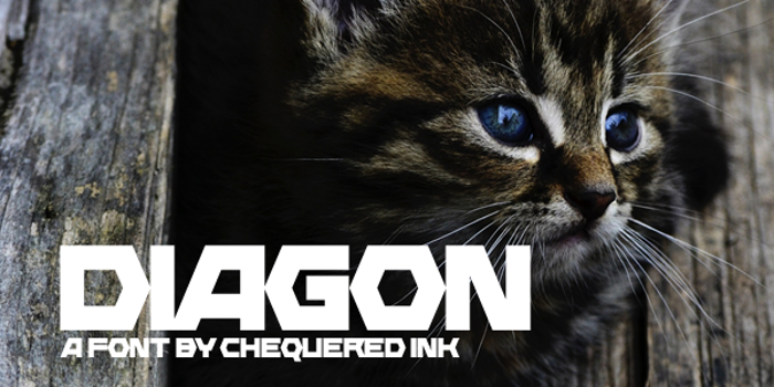 Diagon Font poster
