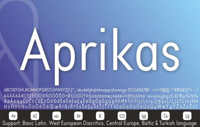 Aprikas Bold Demo Font poster
