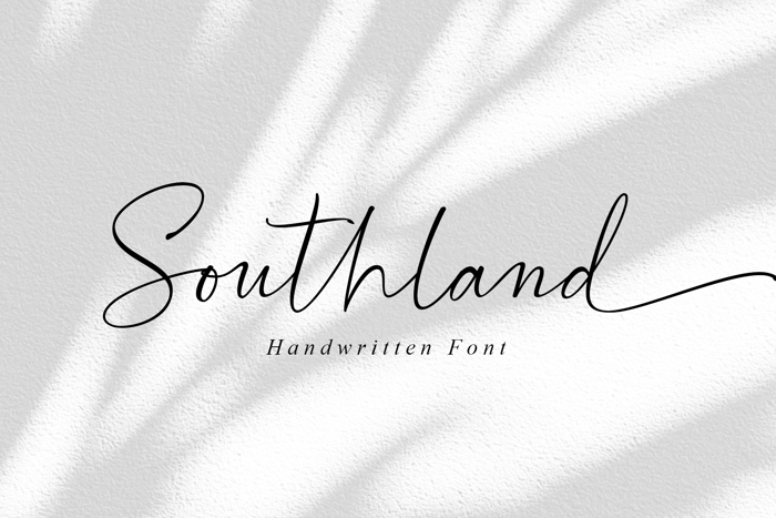 Southland Font poster